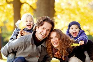 Familienausflug im Herbst
