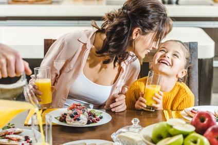Gemütliches Frühstück zusammen mit der Familie