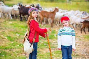 Bauernhofurlaub im Herbst: Zu Besuch bei den Tieren!