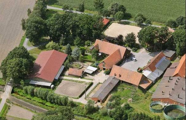 Luftaufnahme vom Hof
