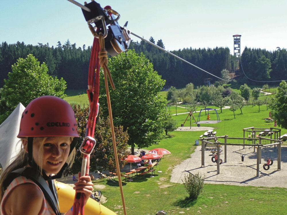 Flying Fox im Wildpark Oberreith