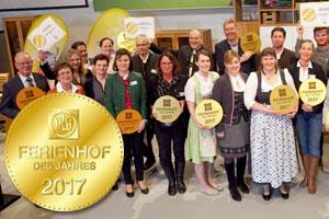 DLG zeichnet die zehn attraktivsten Ferienhöfe Deutschlands 2017 aus