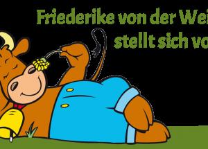 """Unsere Kuh hat einen Namen: """"Friederike von der Weide"""""""