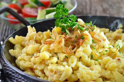 Leckere kulinarische Spezialitäten auf dem Winzerhof